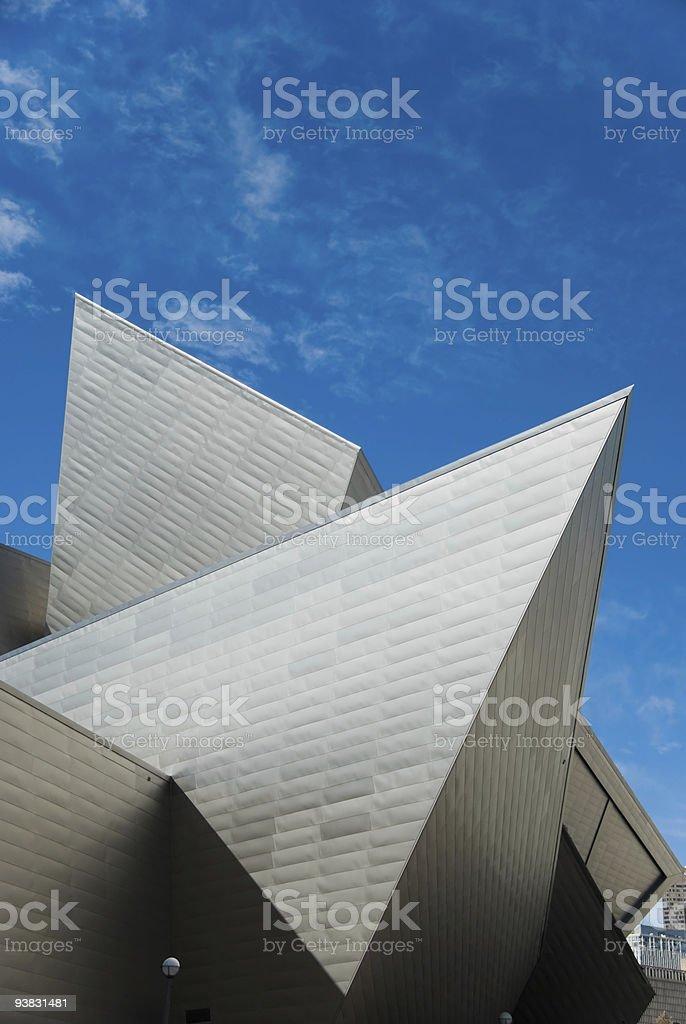 modern steel building royalty-free stock photo