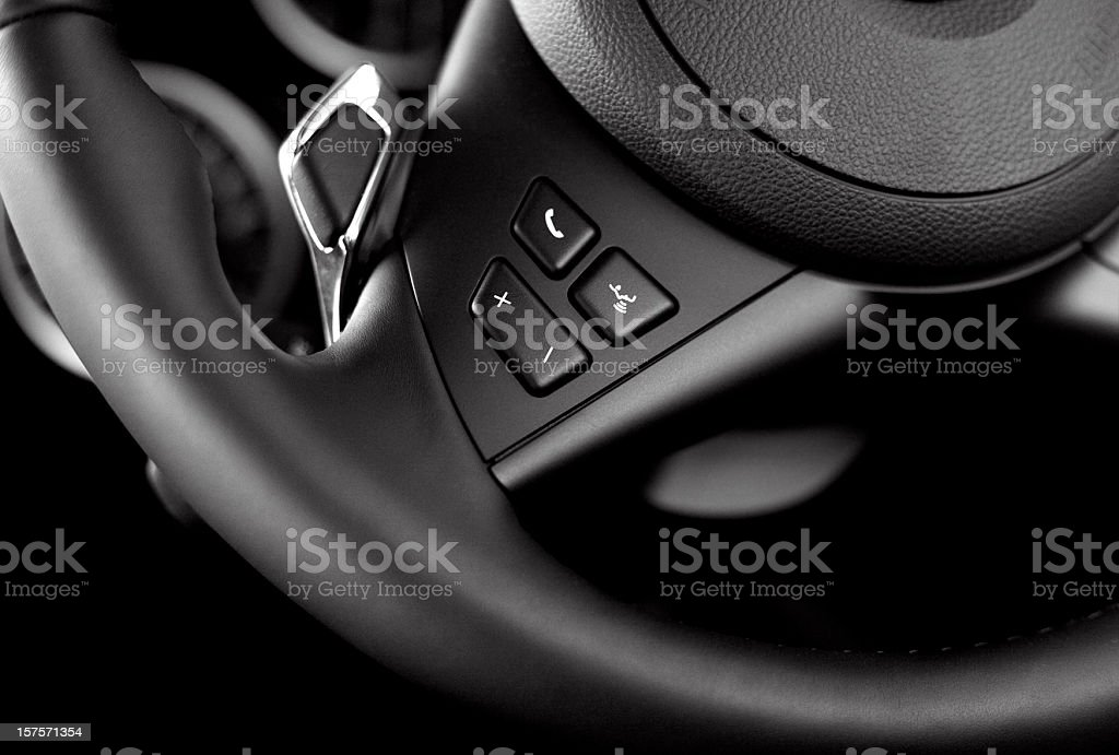 modern steering-wheel stock photo