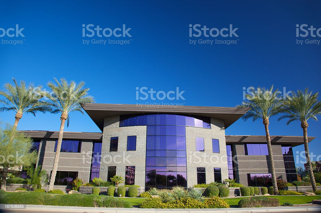 Modern Stone Scottsdale Business royalty-free stock photo