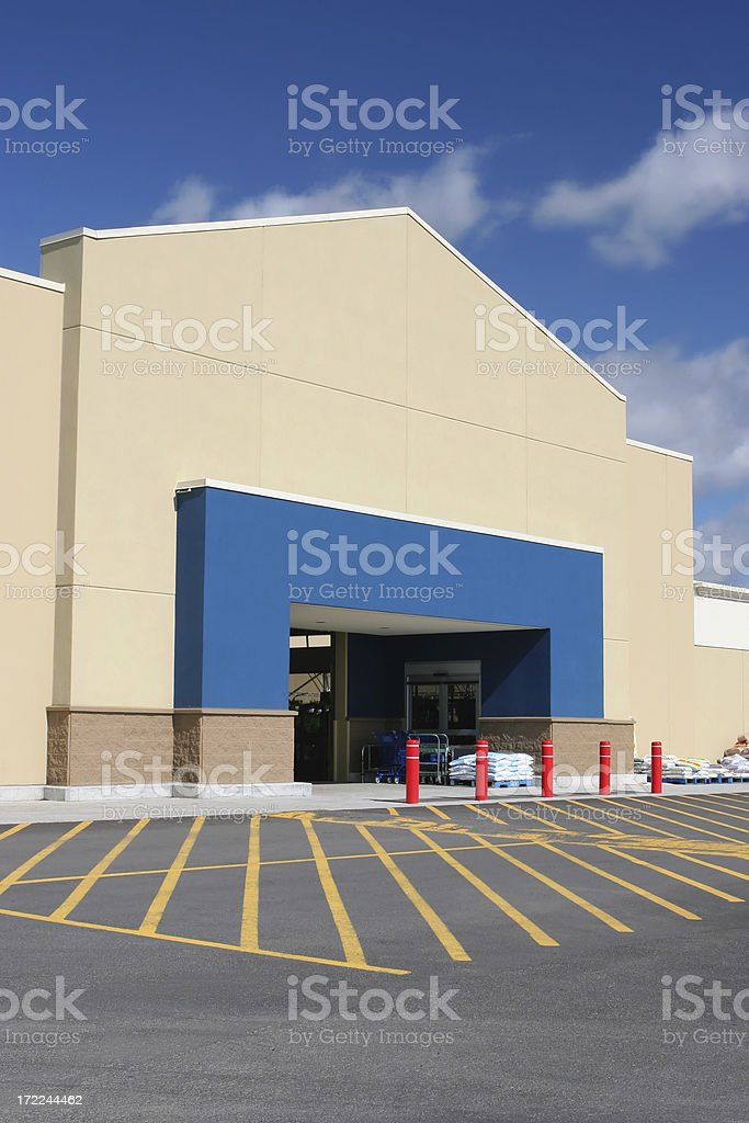 Modern Store Building Entrance stock photo