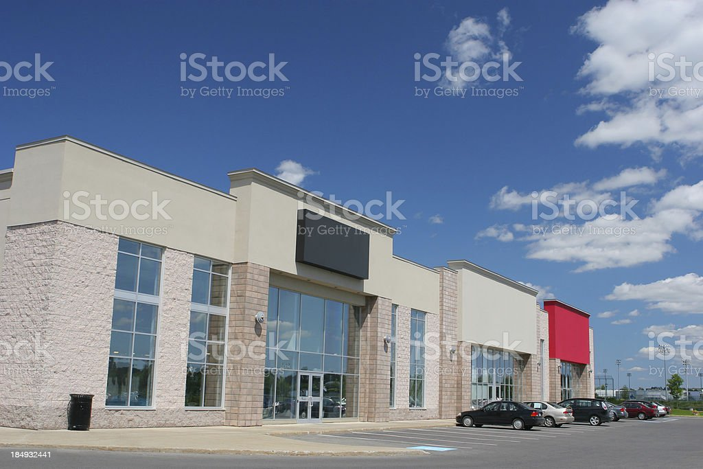 Modern Store Building Exteriors royalty-free stock photo