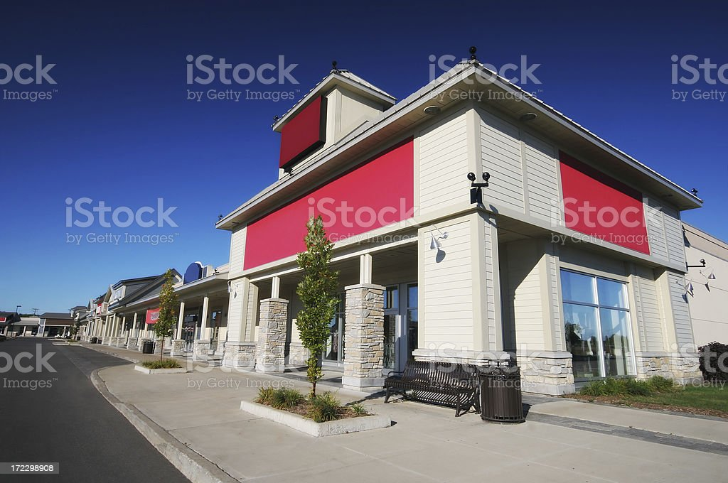 Modern Store Building royalty-free stock photo
