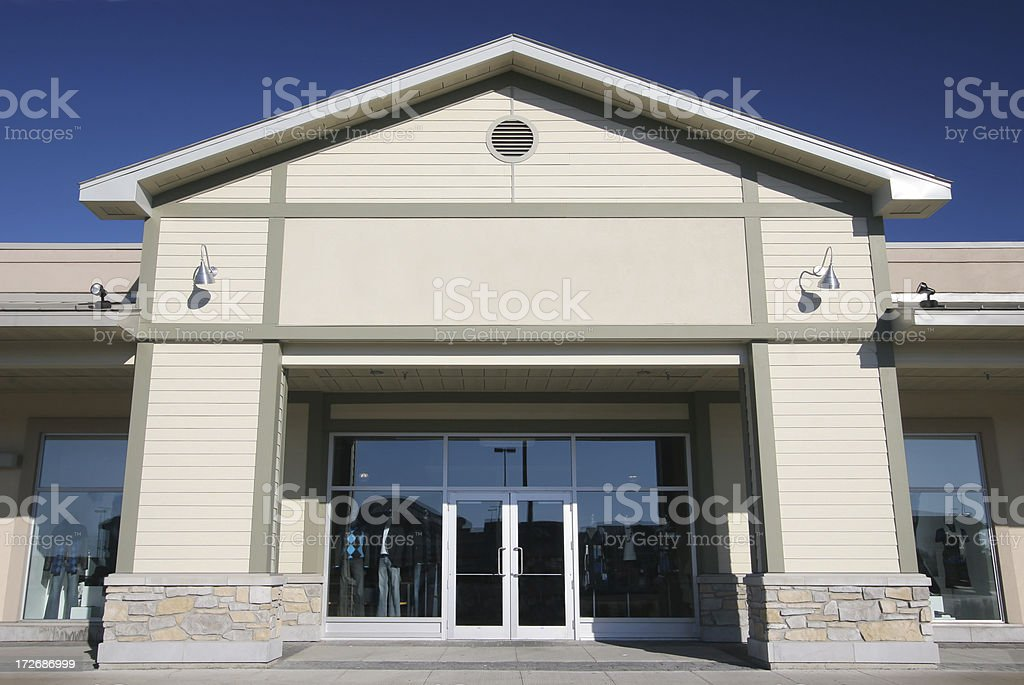 Modern Store Front royalty-free stock photo