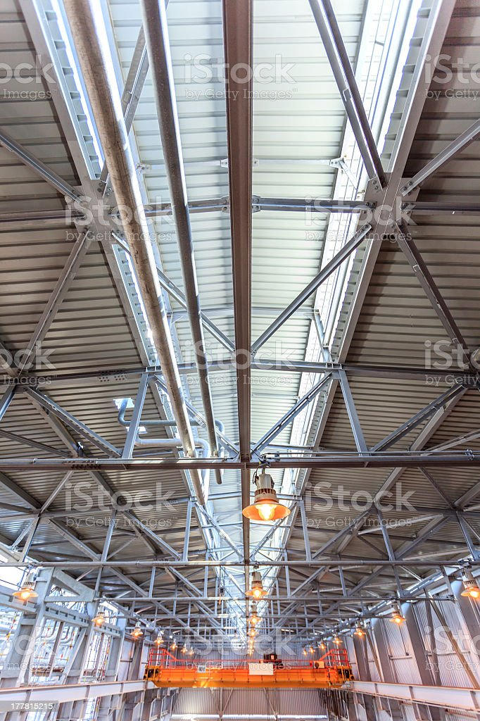 Modern Storehouse Roof royalty-free stock photo