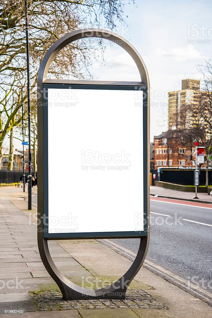 Modern Street billboard stock photo