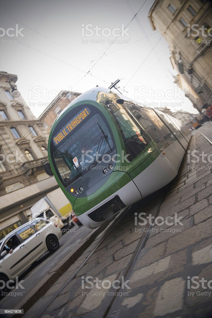 Modern Streetcar royalty-free stock photo