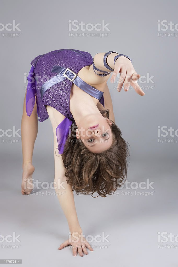 modern style dancer posing royalty-free stock photo
