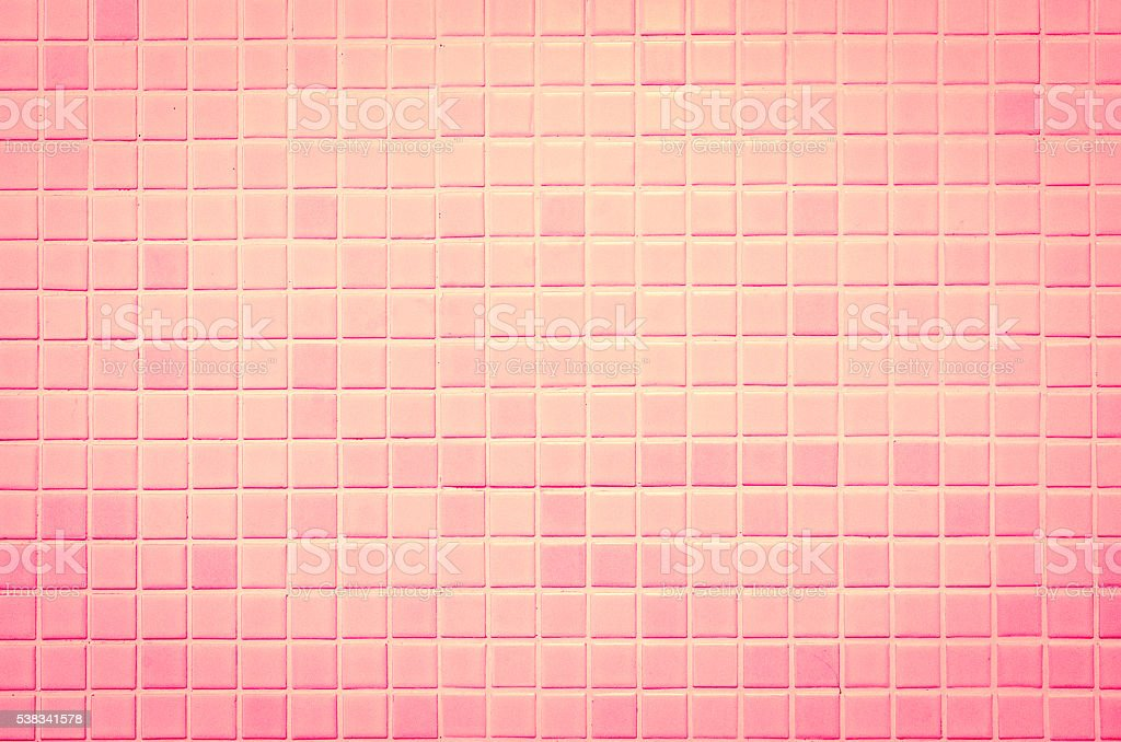 Modern style design of pink mosaic tile texture stock photo