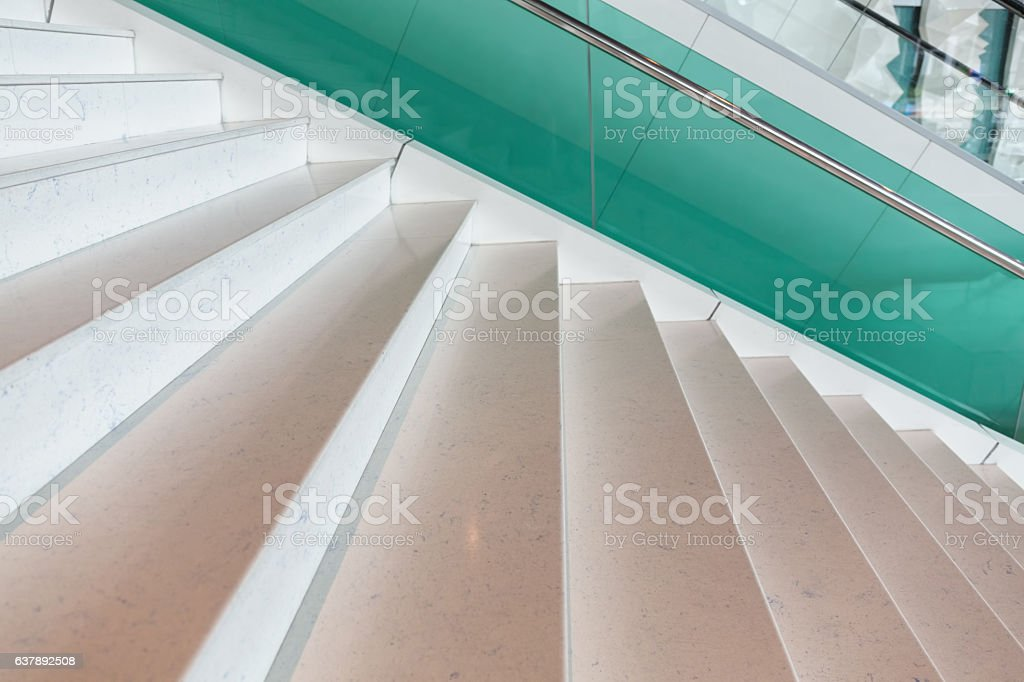 Modern style marble staircase stock photo