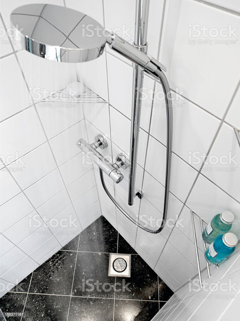Modern style shower room in a home royalty-free stock photo