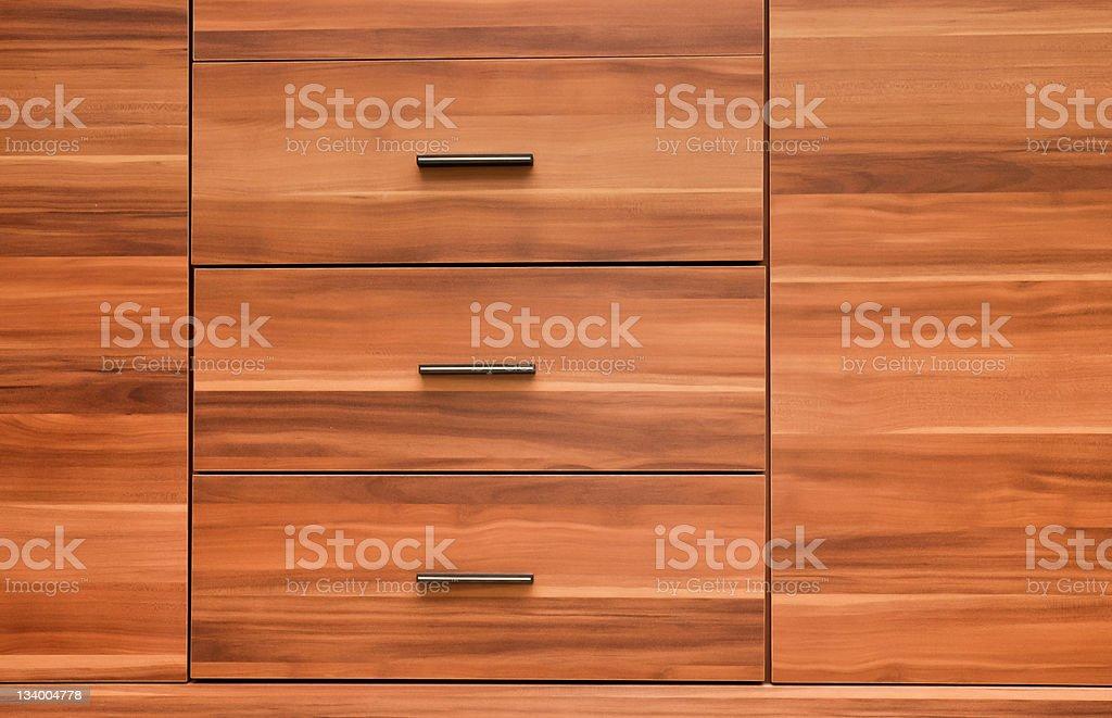 Moderne Holzmöbel auf der Vorderseite Lizenzfreies stock-foto