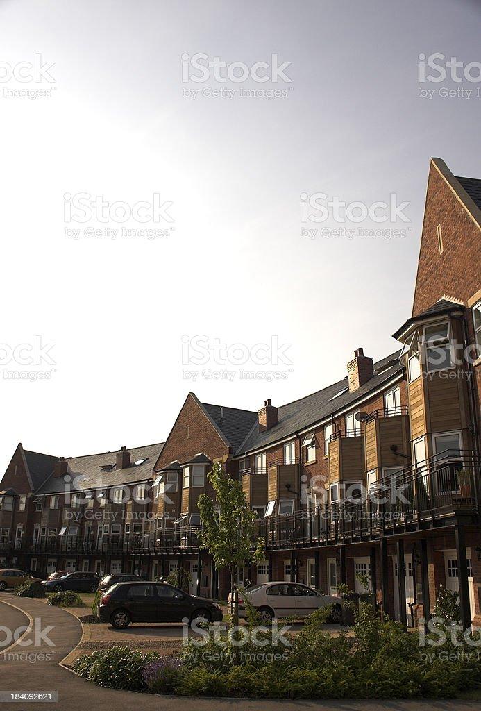 Modern suburban family houses royalty-free stock photo