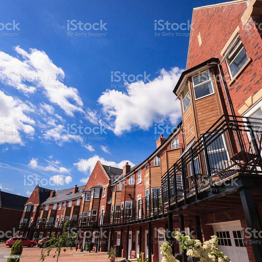 Modern suburban family houses stock photo