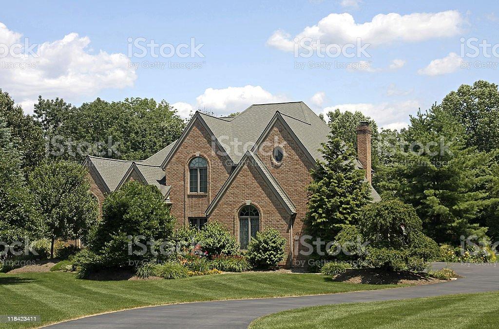 modern suburban home stock photo
