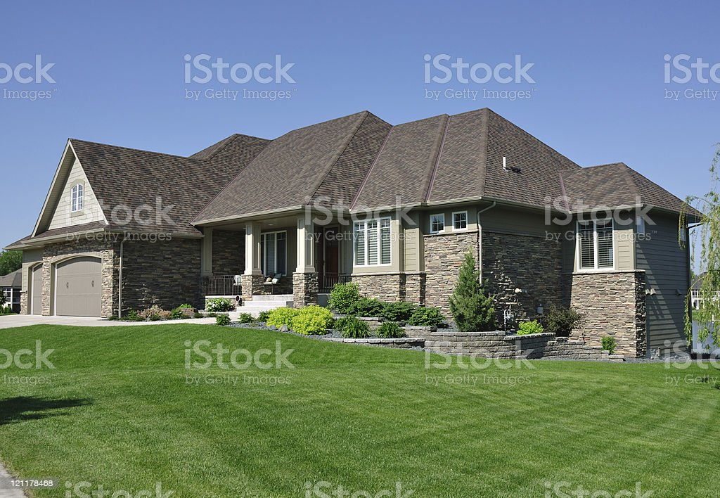 Modern Suburban House stock photo