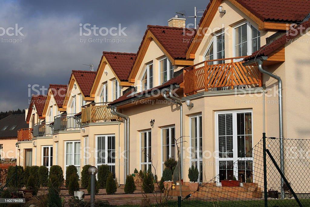 Modern suburban houses stock photo