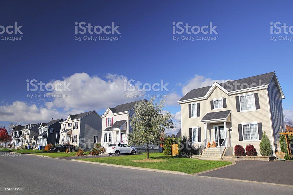 Modern Suburban Residential Street stock photo