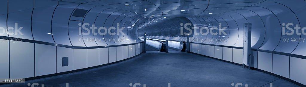 Modern subway station architecture, Rotterdam, The Netherlands stock photo