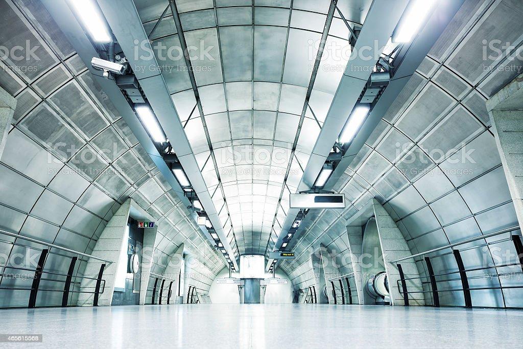 Modern Subway Station, London, England stock photo