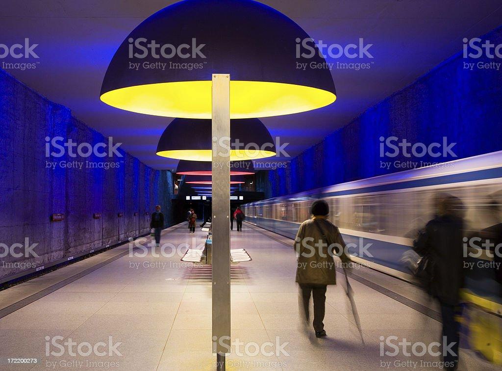 Modern subway station royalty-free stock photo