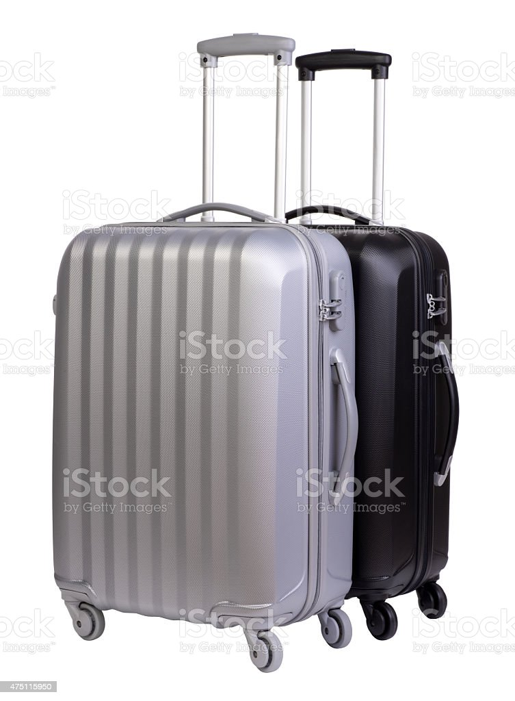 Modern suitcases stock photo