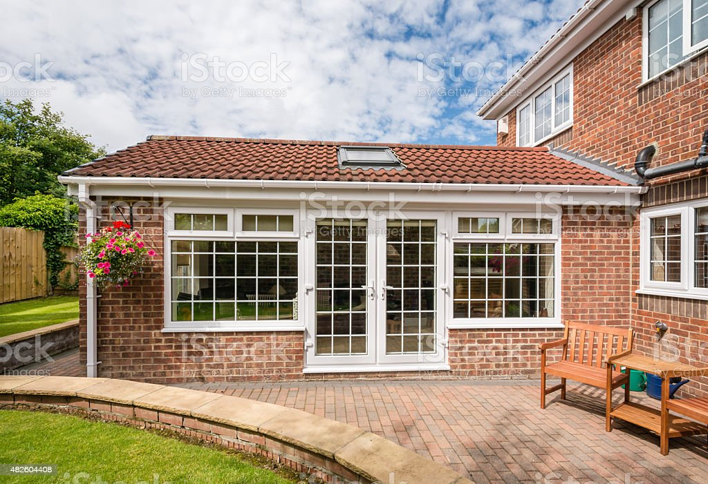 Modern Sunroom Conservatory stock photo