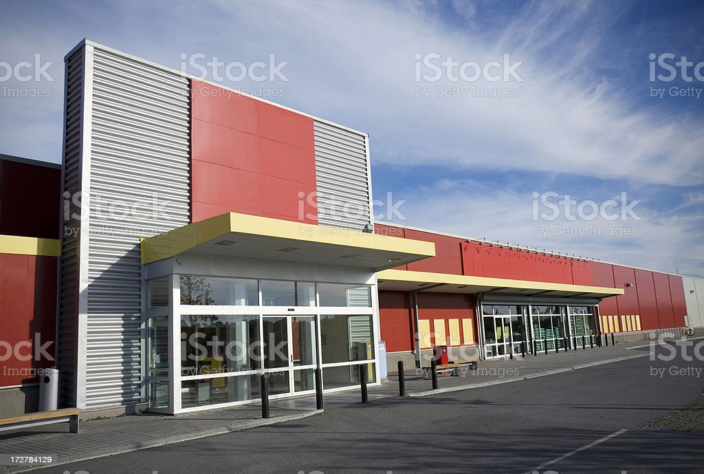 Modern supermarket stock photo