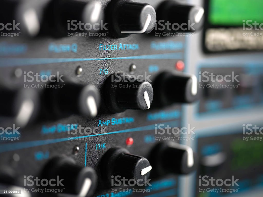 Modern Synthesiser Closeup stock photo