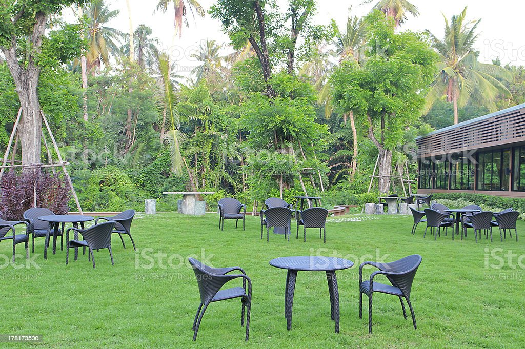 modern table and chairs setting royalty-free stock photo