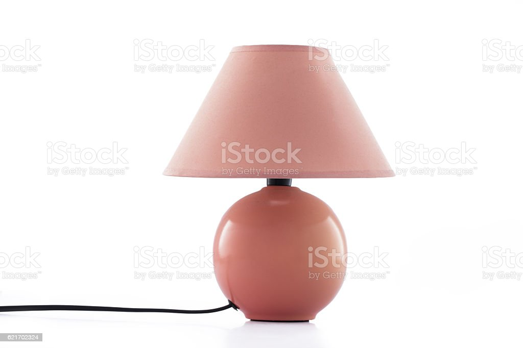 Modern table lamp isolated on white stock photo