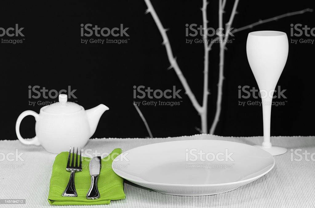Modern Table Set royalty-free stock photo