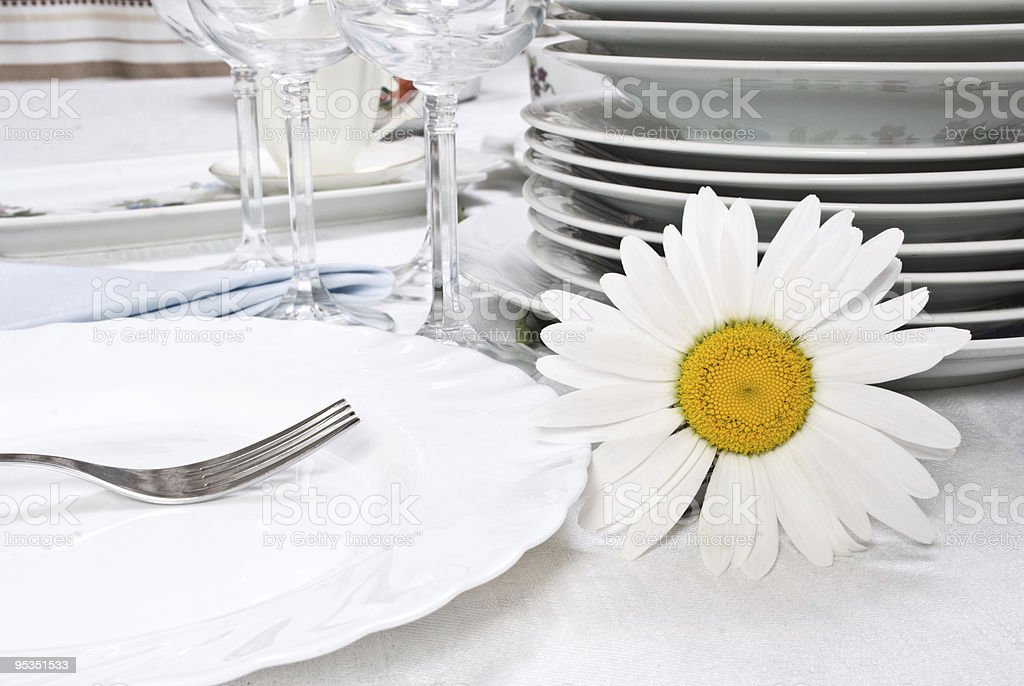 Modern Table Setting royalty-free stock photo