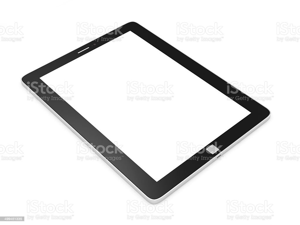 Modern Tablet PC with Blank Screen isolated on white background royalty-free stock photo