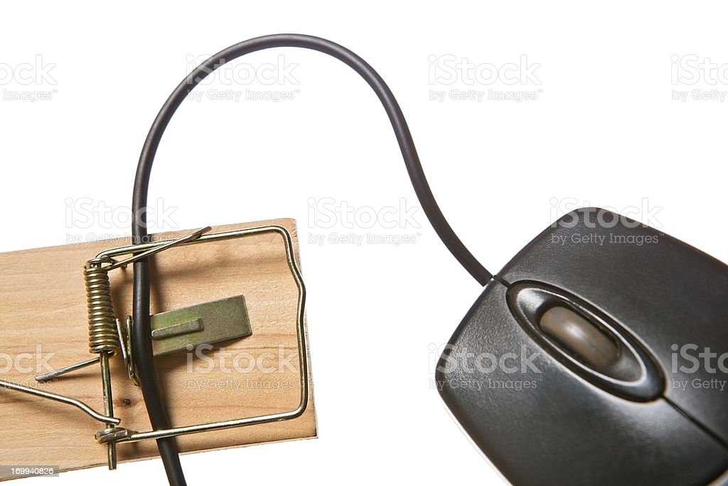 Modern take on a mousetrap: the technological version! stock photo