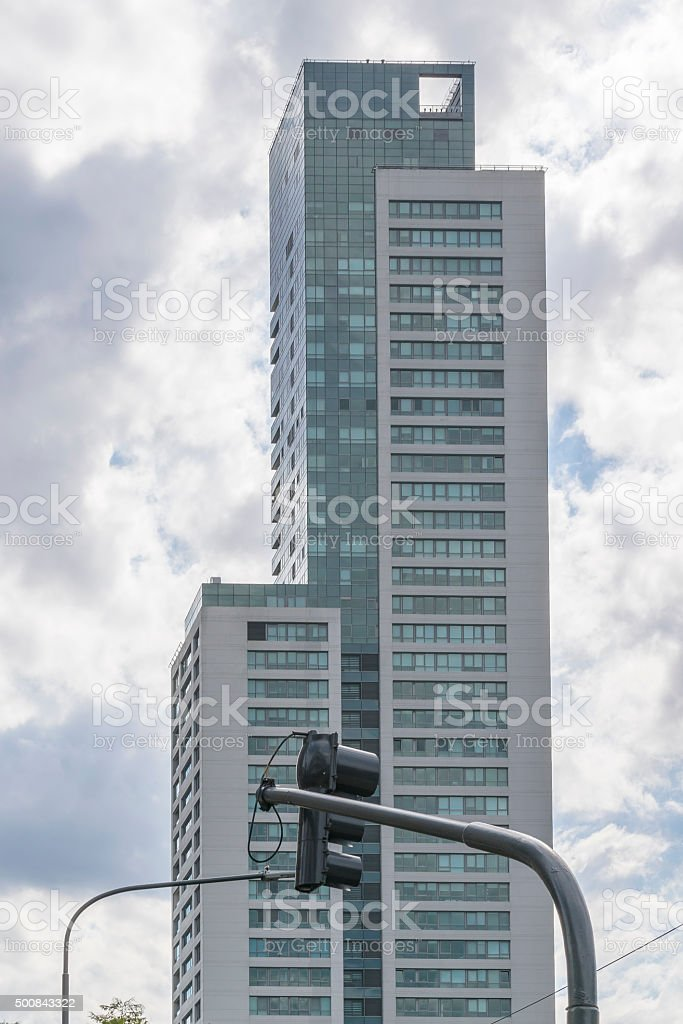 Modern Tall Building in Buenos Aires Argentina stock photo