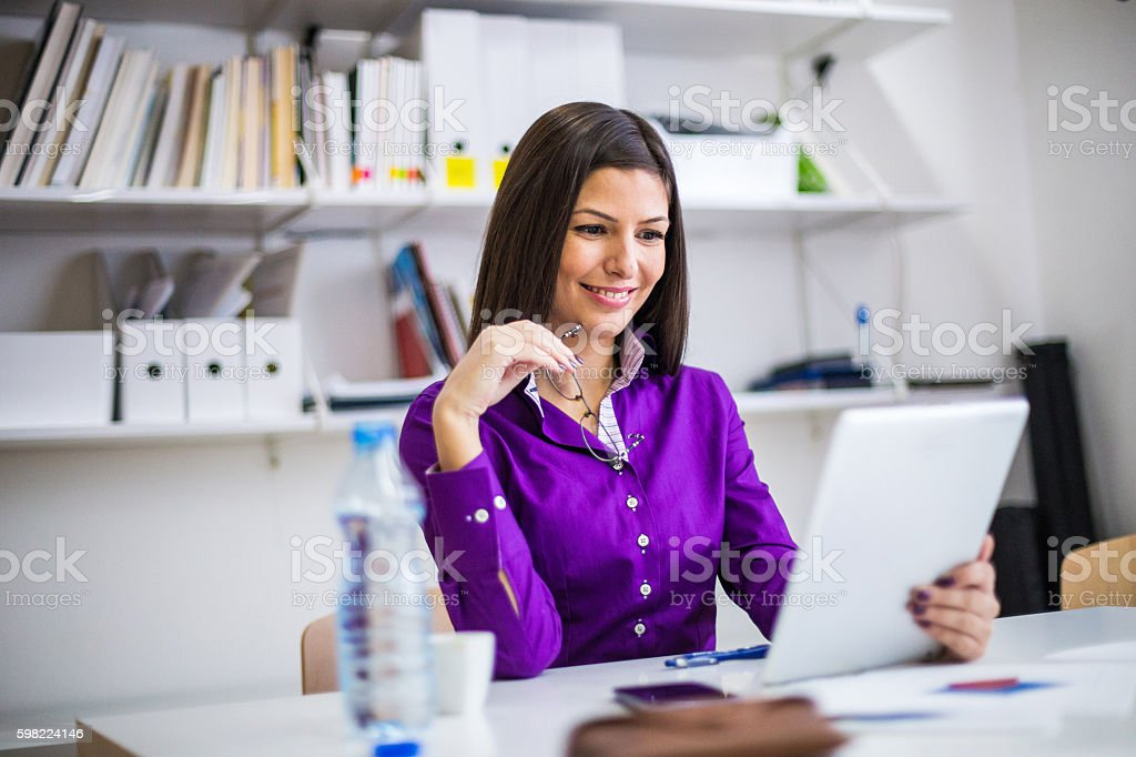 Modern teacher stock photo