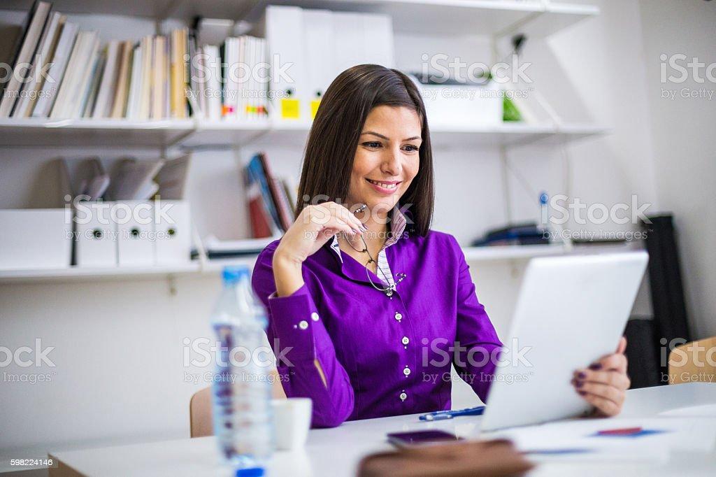 Modern teacher stock photo