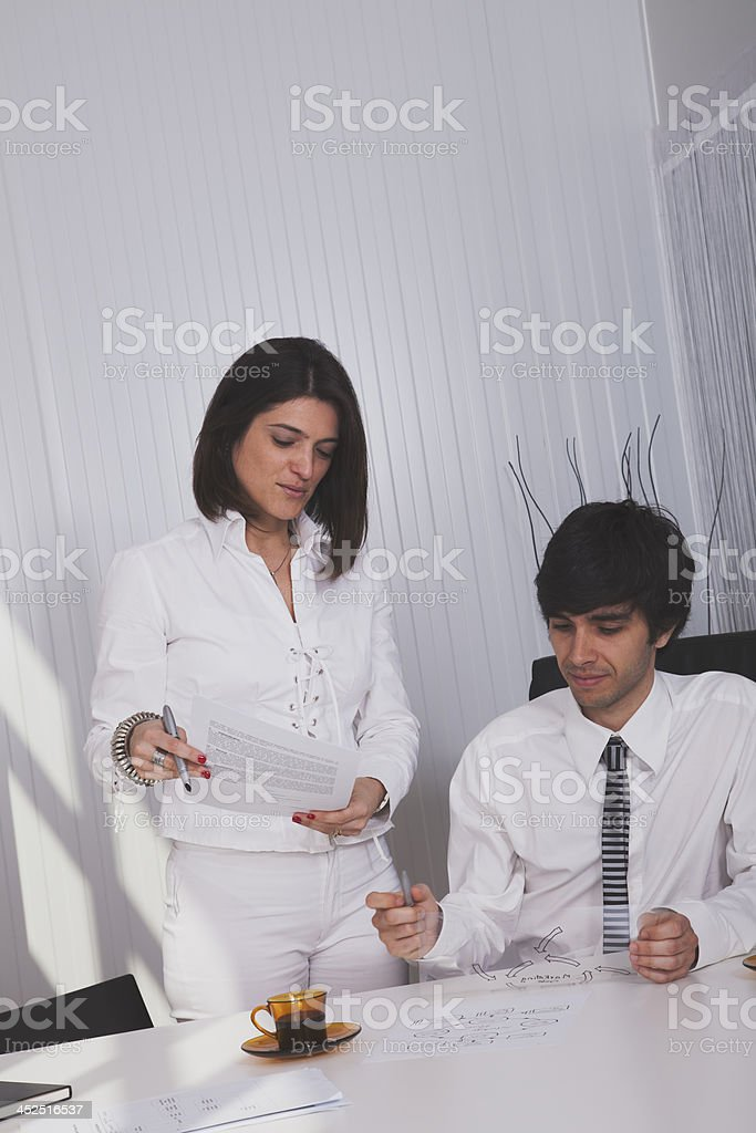 Modern team at the office royalty-free stock photo