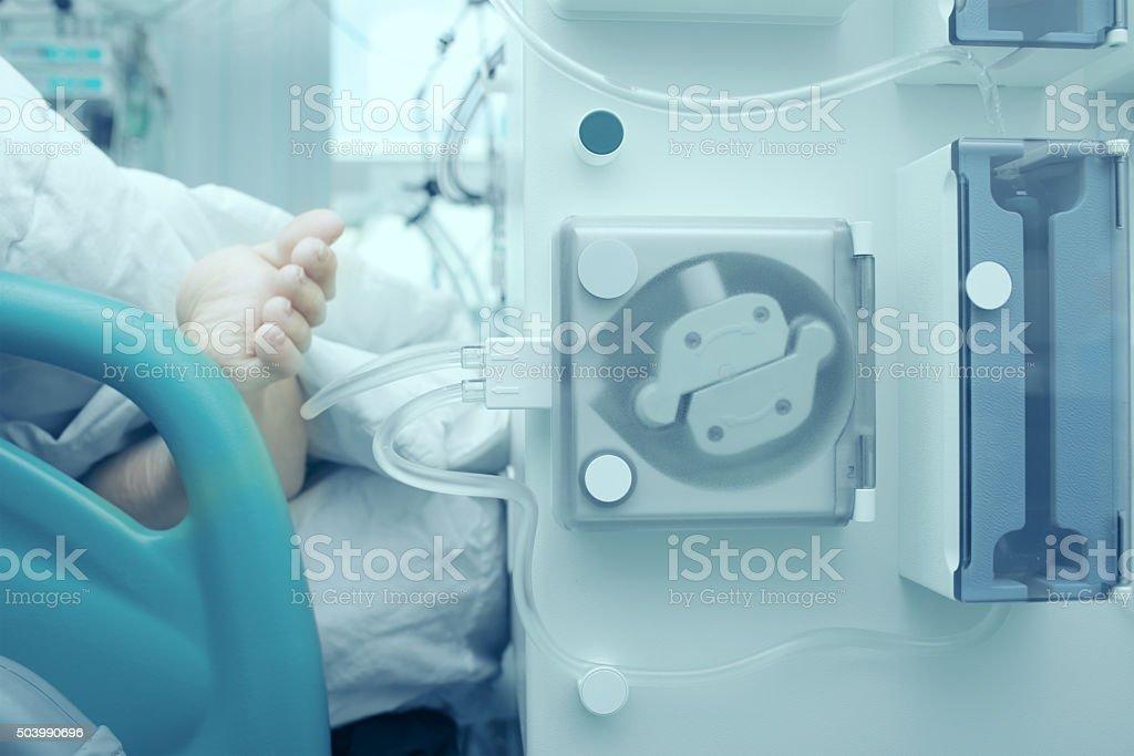 Modern technological treatment stock photo