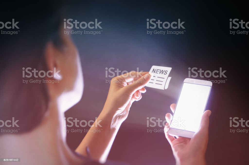 Modern technologies in the media stock photo