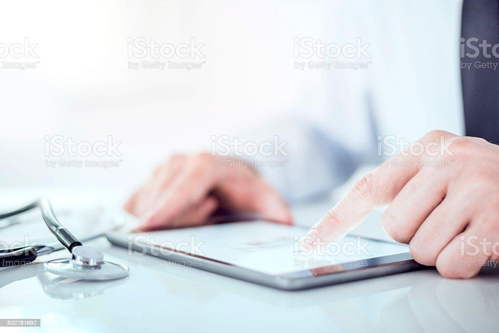Modern technology and medicine stock photo