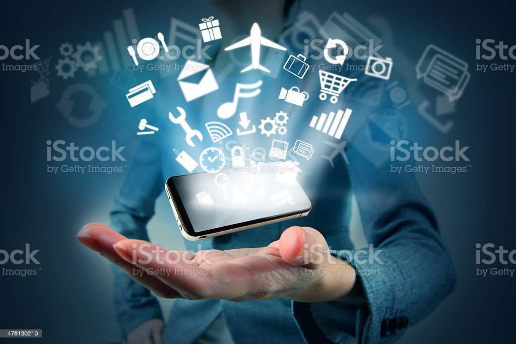 Modern technology concept stock photo