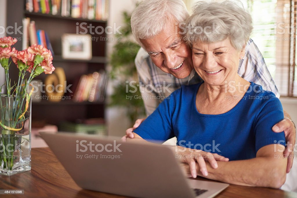 Modern technology it not a problem for them stock photo