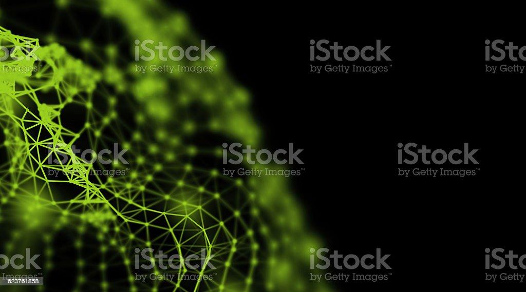 Modern technology triangle neurone design for internet communication stock photo