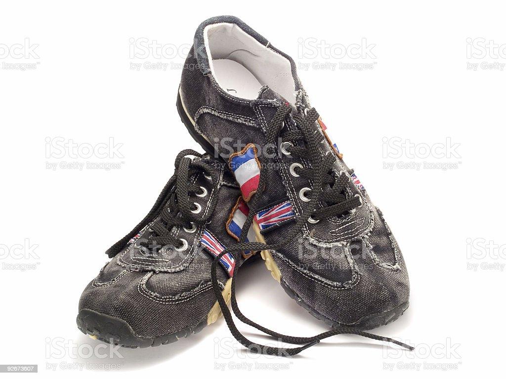 Modern Teenage Shoes royalty-free stock photo