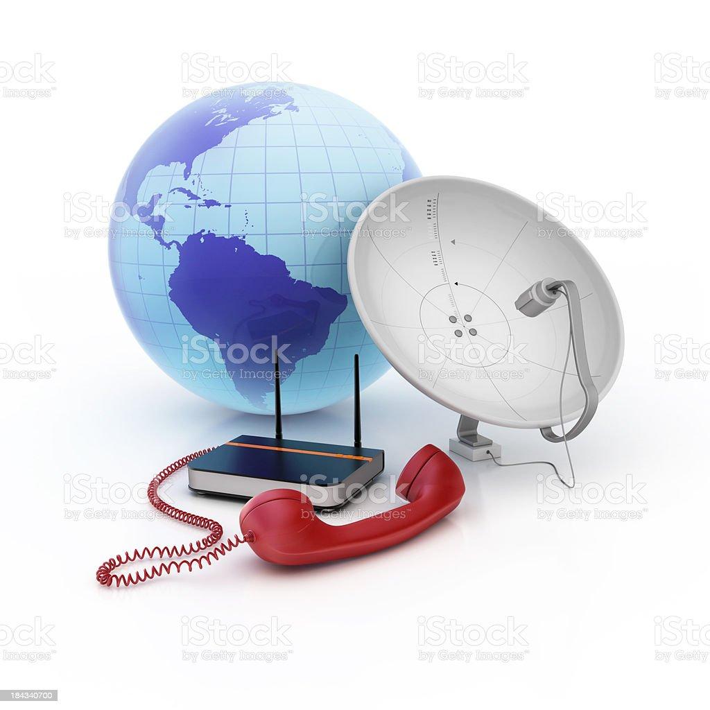 modern telecommunications royalty-free stock photo