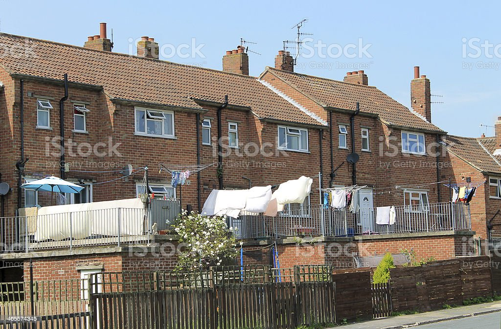 Modern terrace houses royalty-free stock photo