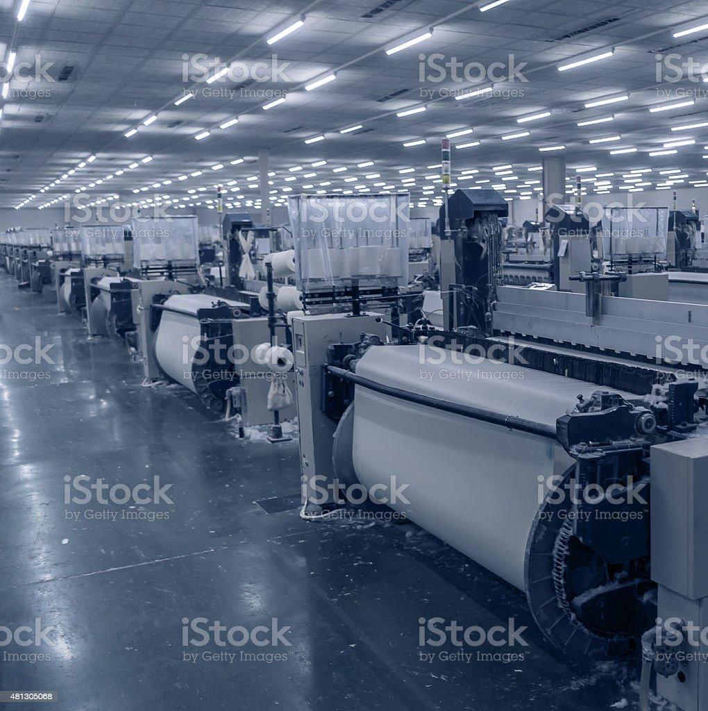 Modern textile workshop stock photo