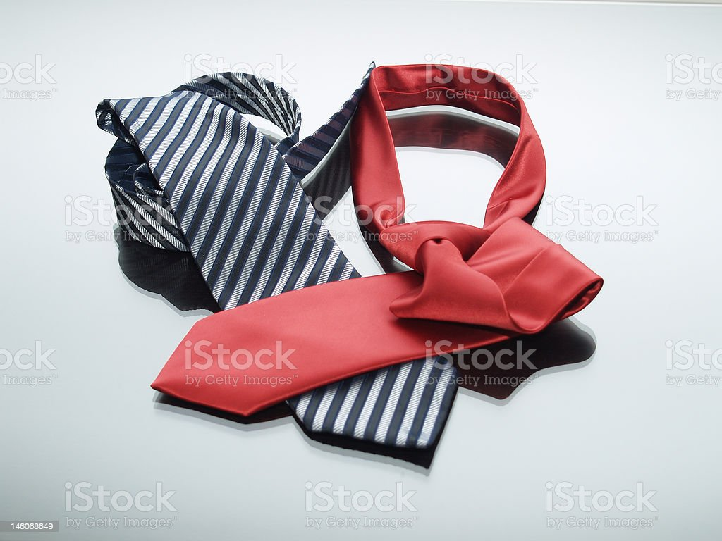 Modern ties royalty-free stock photo