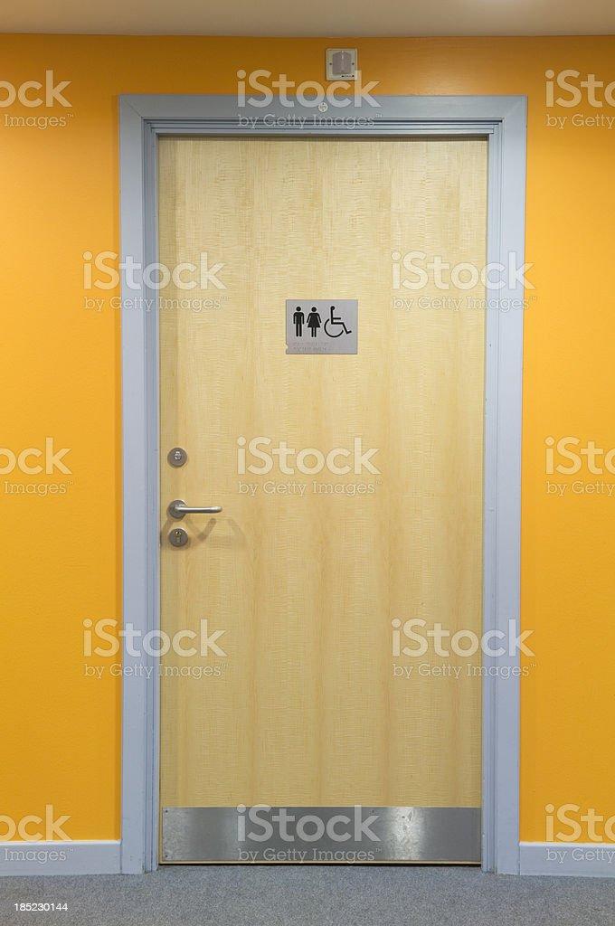 Modern toilet door royalty-free stock photo
